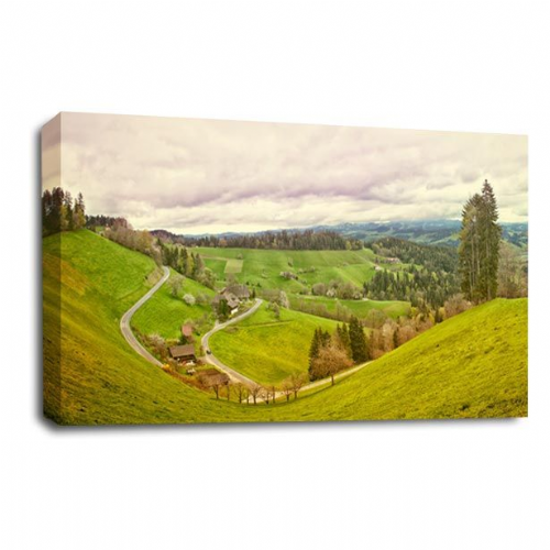 Landscape Canvas Art Restful Countryside Wall Picture